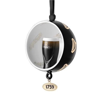 Guinness Open Globe Pint Decoration  - Click to view a larger image