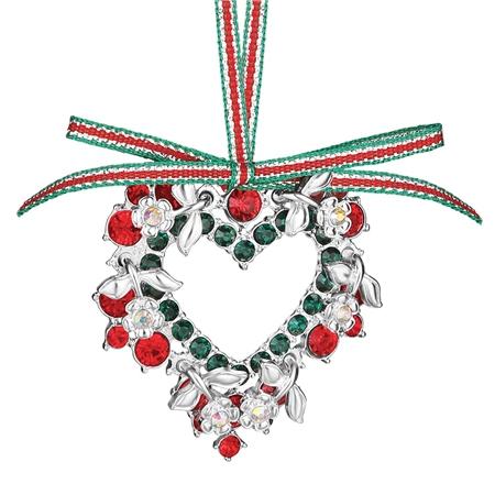 heart decoration coloured stones newbridge silverware - Newbridge Silver Christmas Decorations Uk
