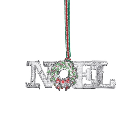 NOEL Decoration with Wreath  - Click to view a larger image