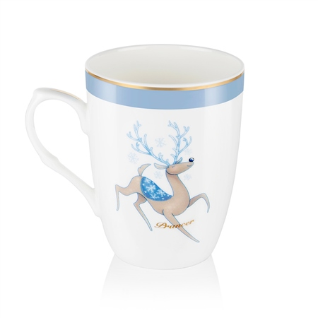 Prancer Christmas Mug  - Click to view a larger image