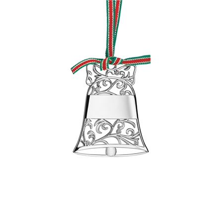 Silverplate Bell Christmas Decor  - Click to view a larger image