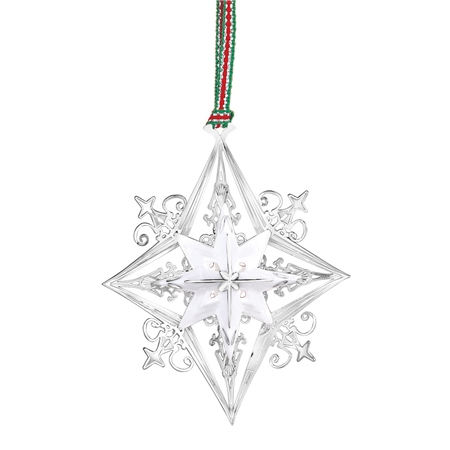 Silverplate Star with Ceramic  - Click to view a larger image