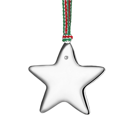 Silverplate Star with Clear Stone  - Click to view a larger image