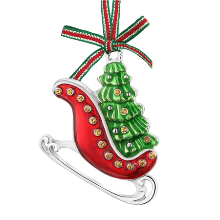 Sleigh with Tree Decoration  - Click to view a larger image