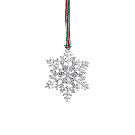 Snowflake Clear Stones Decoration  - Click to view a larger image