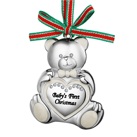 Teddy Bear Babys First Christmas  - Click to view a larger image