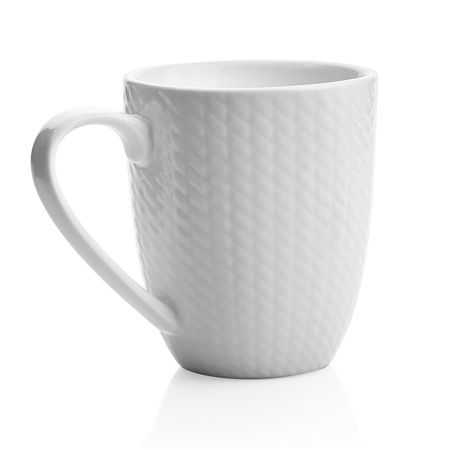Whiteware 6 Piece Mug Set  - Click to view a larger image