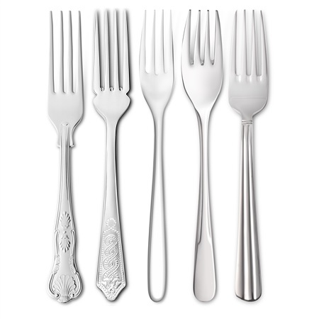 Stainless Steel Dessert Forks  - Click to view a larger image