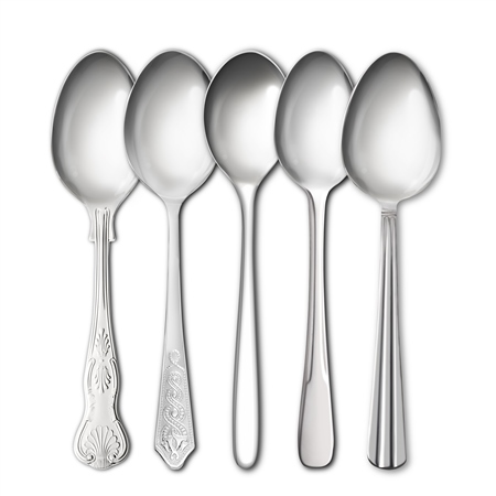 Stainless Steel Dessert Spoons  - Click to view a larger image