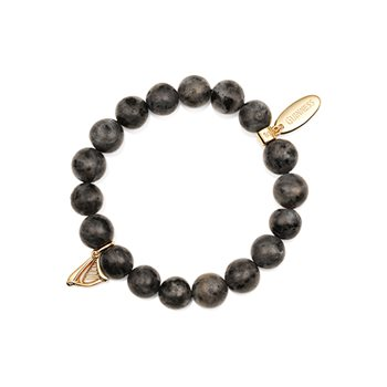 Guinness Beaded Bracelet Charcoal  - Click to view a larger image