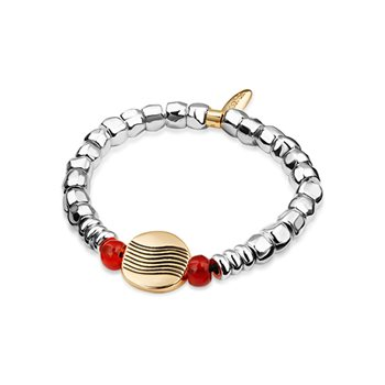 Guinness Silverplate Bead Bracelet  - Click to view a larger image