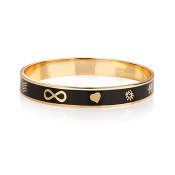 Guinness Black Goldplate Bangle  - Click to view a larger image