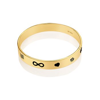 Guinness Goldplate Black Bangle  - Click to view a larger image