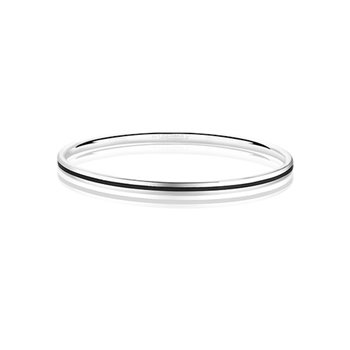 Silverplate Enamel Bangle Black  - Click to view a larger image