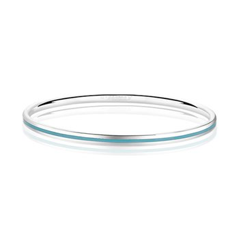 Silverplate Enamel Bangle Blue  - Click to view a larger image