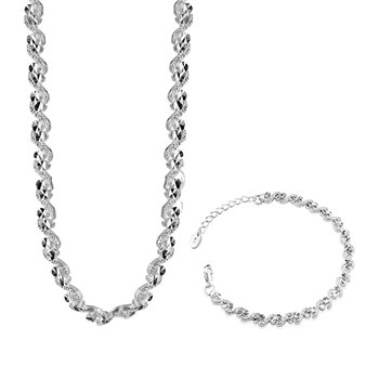 Circular Necklace and Bracelet Set  - Click to view a larger image