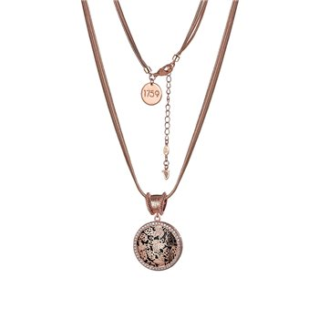 Guinness Rose Goldplated Pendant Double Chain  - Click to view a larger image