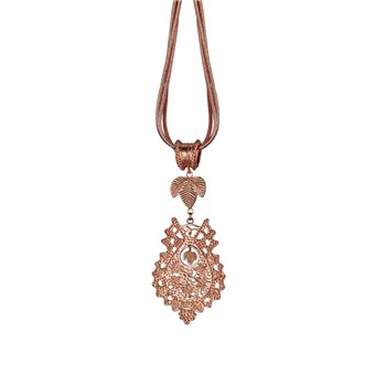 Guinness Rose Goldplated Pendant Triple Strand  - Click to view a larger image