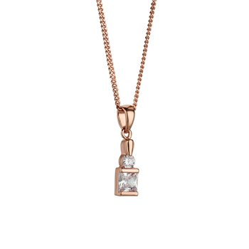Rose Goldplated Pendant Square  - Click to view a larger image