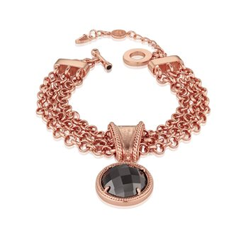 Guinness Rose Goldplated Bracelet T Chain  - Click to view a larger image