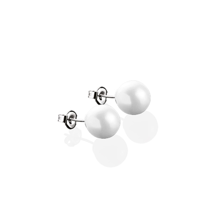 Pearl Stud Earrings 8mm  - Click to view a larger image