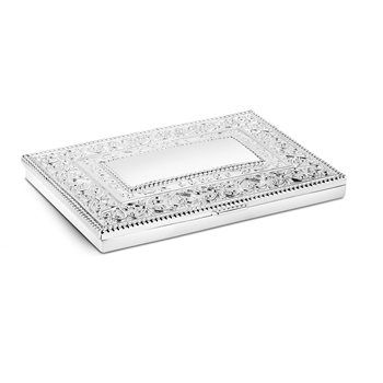 Silverplate Name Card Holder Ornate  - Click to view a larger image