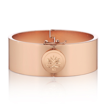 Rose Goldplate Bangle  - Click to view a larger image