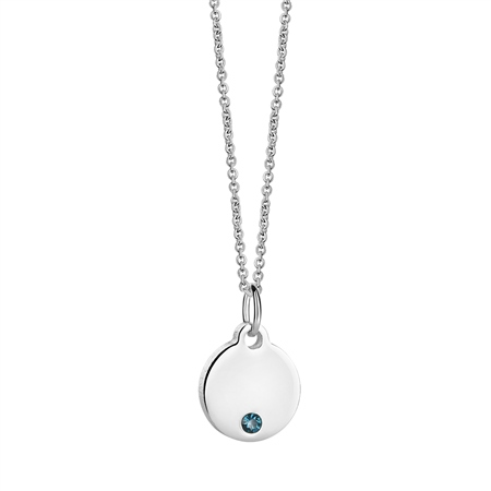 Birthstone Pendant December  - Click to view a larger image