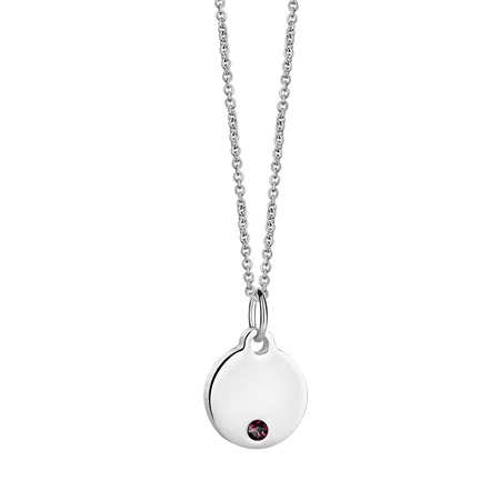 Birthstone Pendant February  - Click to view a larger image