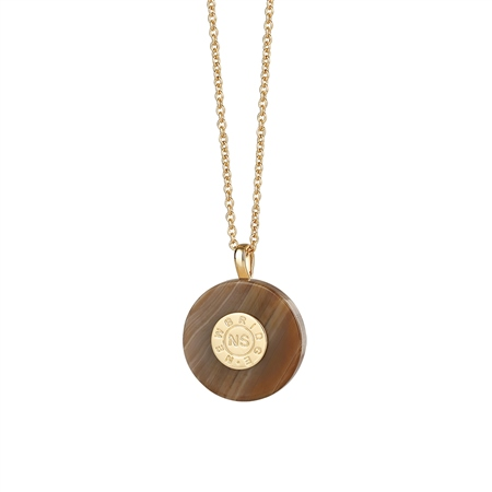 Circular Pendant with Brown Stone  - Click to view a larger image