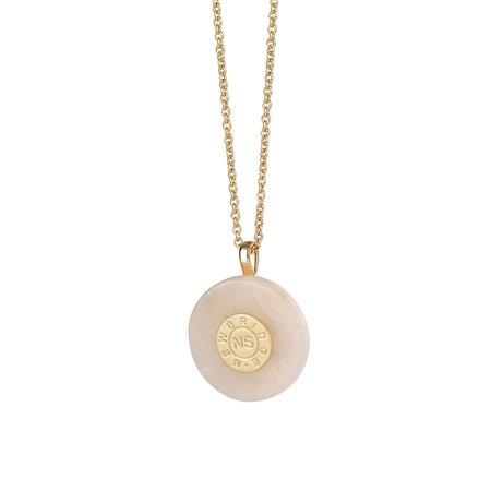 Circular Pendant with Rose Stone  - Click to view a larger image