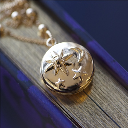 Locket with Sun Moon & Stars  - Click to view a larger image