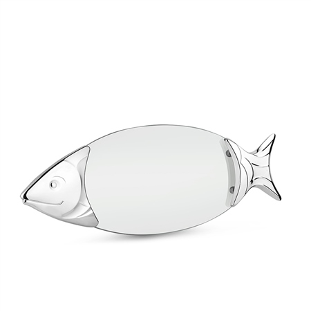 Chrome Plated Glass Salmon Tray 1