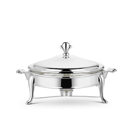 Silverplated 2.5L Round Warmer  - Click to view a larger image