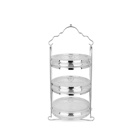 Silverplated 3 Tier Cake Stand  - Click to view a larger image