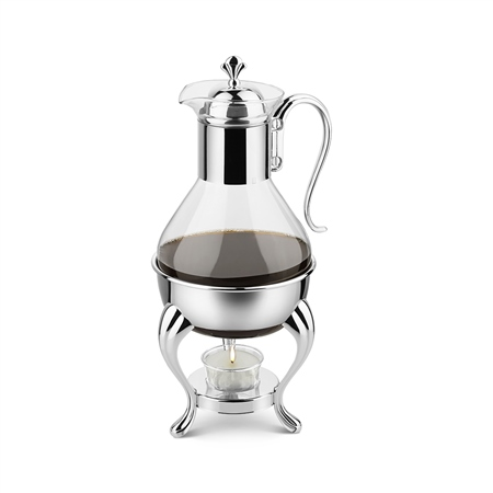 Silver Plated Coffee Warmer  - Click to view a larger image