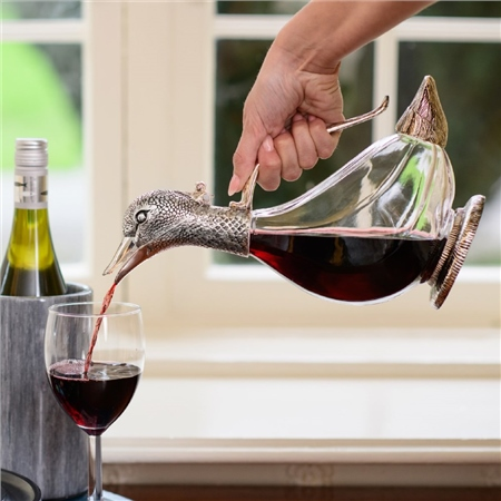 Silver Plated Duck Wine Decanter 1