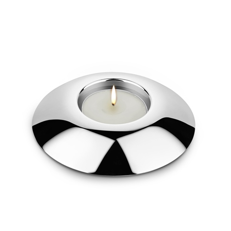 Silverplated Round Tealight Holder  - Click to view a larger image