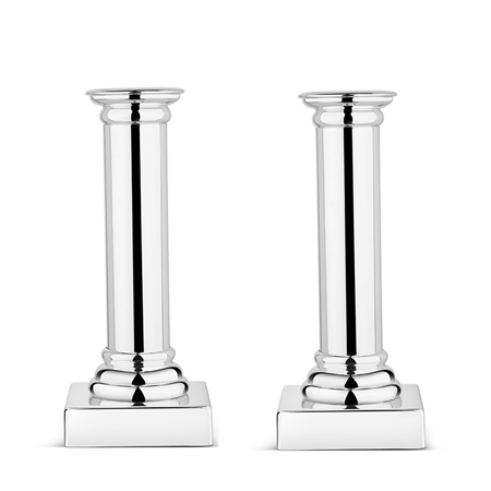 Silverplated Set of 2 Candle Sticks  - Click to view a larger image