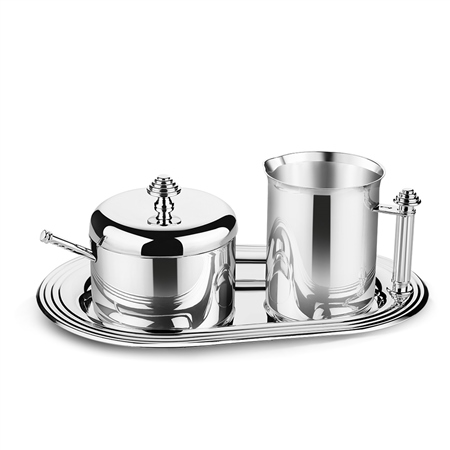 Silver Plated Sugar & Creamer Set  - Click to view a larger image