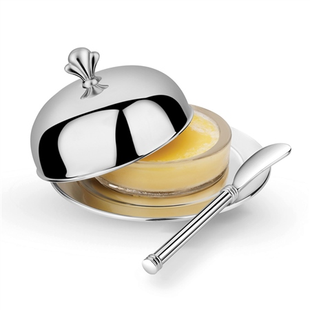 Stainless Steel Butter Serving Set  - Click to view a larger image