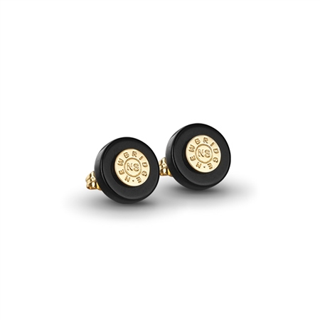 Black stud earrings  - Click to view a larger image