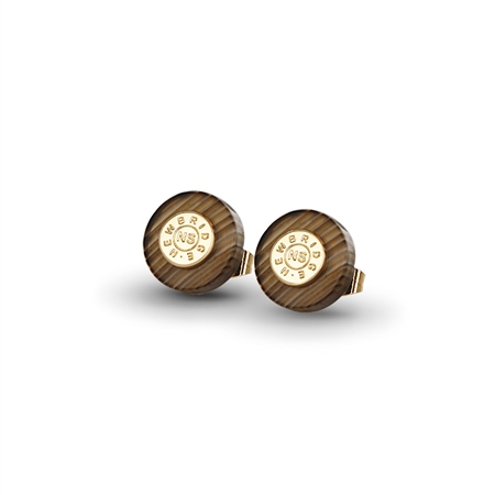 Brown stud earrings  - Click to view a larger image