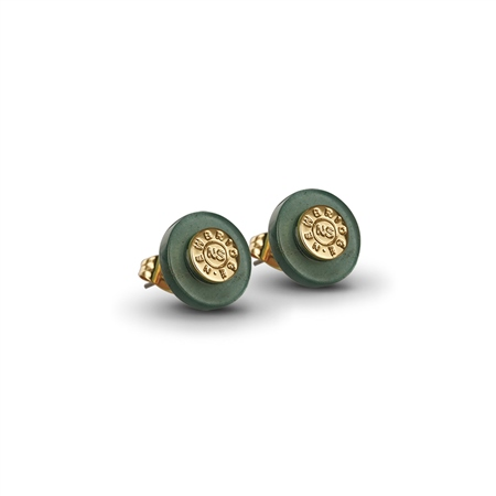 Green Stud earrings  - Click to view a larger image
