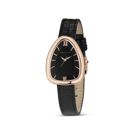 Ladies Black Triangular Watch  - Click to view a larger image