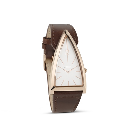 Unisex Brown Triangular Watch  - Click to view a larger image