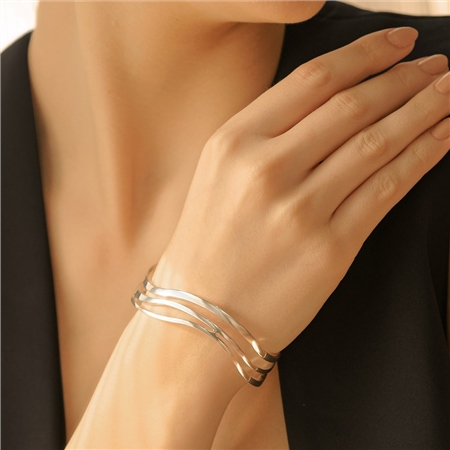 Orca Wave Bangle  - Click to view a larger image