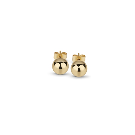 Gold plated Stud Earrings 8mm  - Click to view a larger image