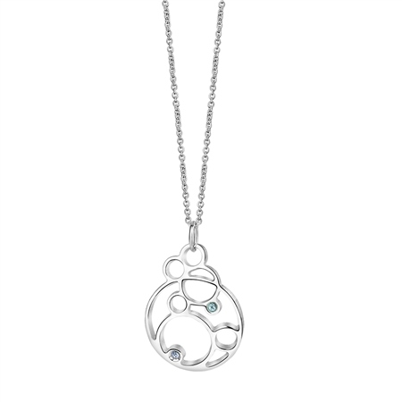 Ceol Pendant with Blue Stones  - Click to view a larger image