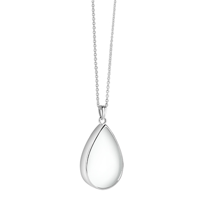 Teardrop Pendant with Clear Stone  - Click to view a larger image